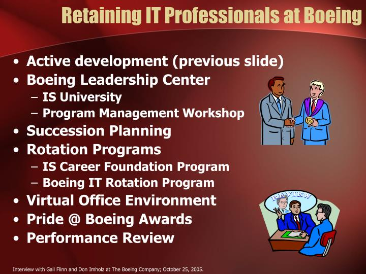 Retaining IT Professionals at Boeing