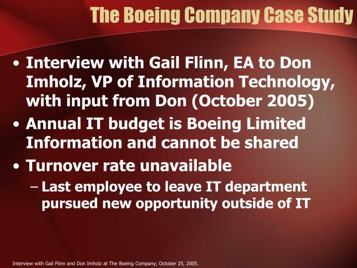 The Boeing Company Case Study