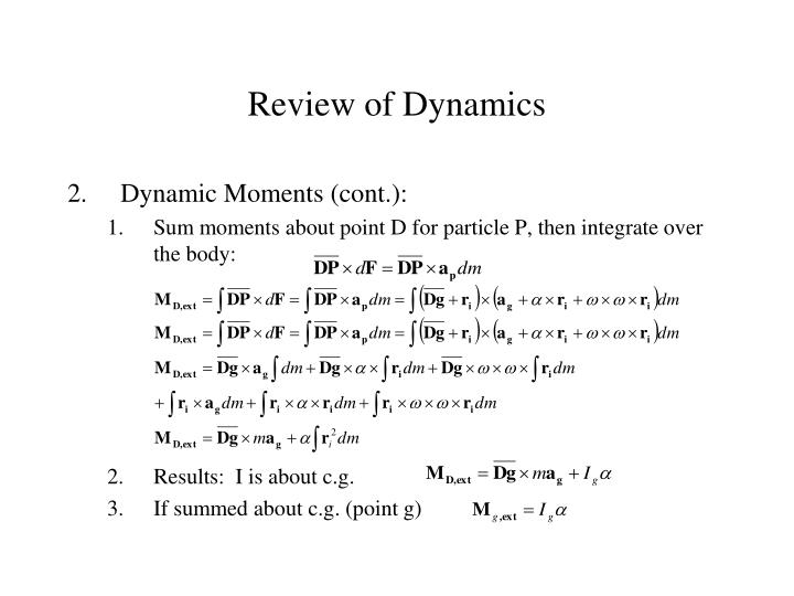 Review of Dynamics