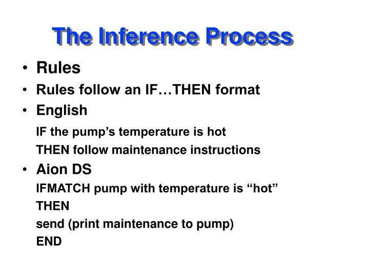 The inference process1