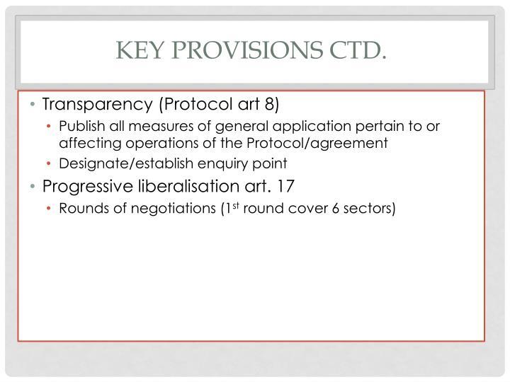 Key Provisions