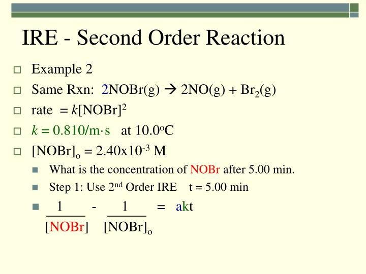 IRE - Second Order Reaction