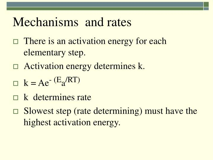 Mechanisms  and rates