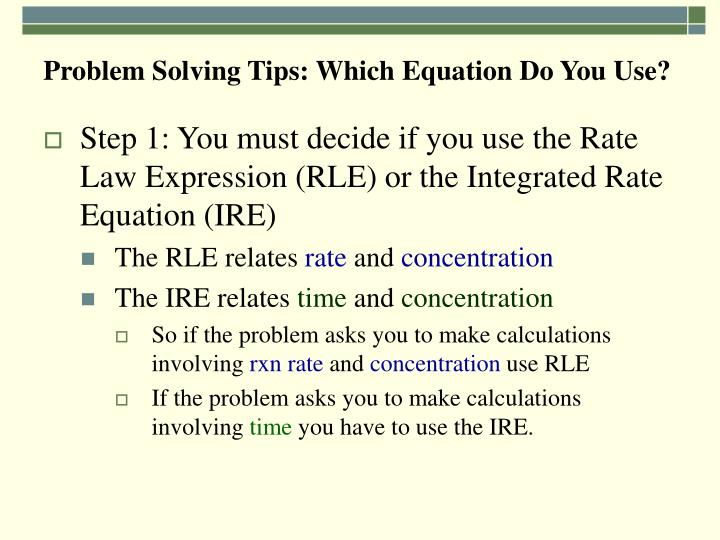 Problem Solving Tips: Which Equation Do You Use?