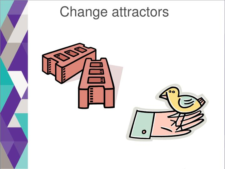 Change attractors