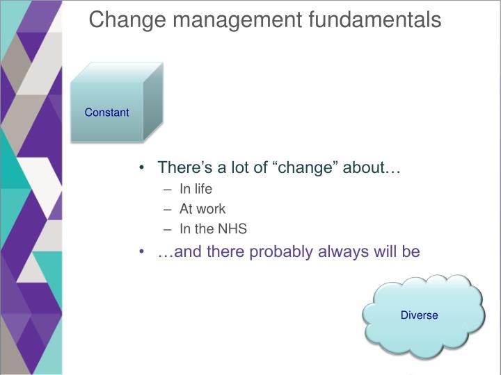 Change management fundamentals