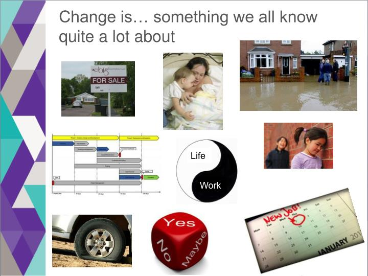 Change is… something we all know quite a lot about