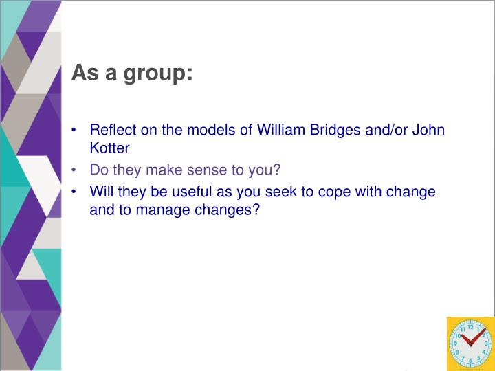 As a group: