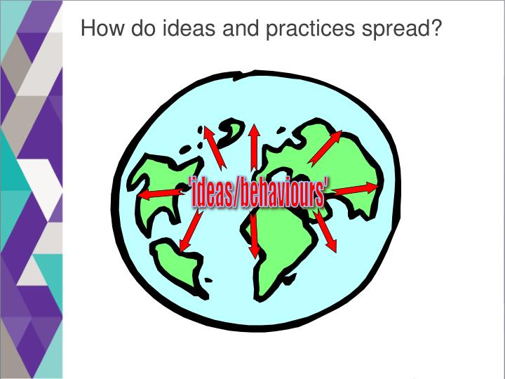 How do ideas and practices spread?