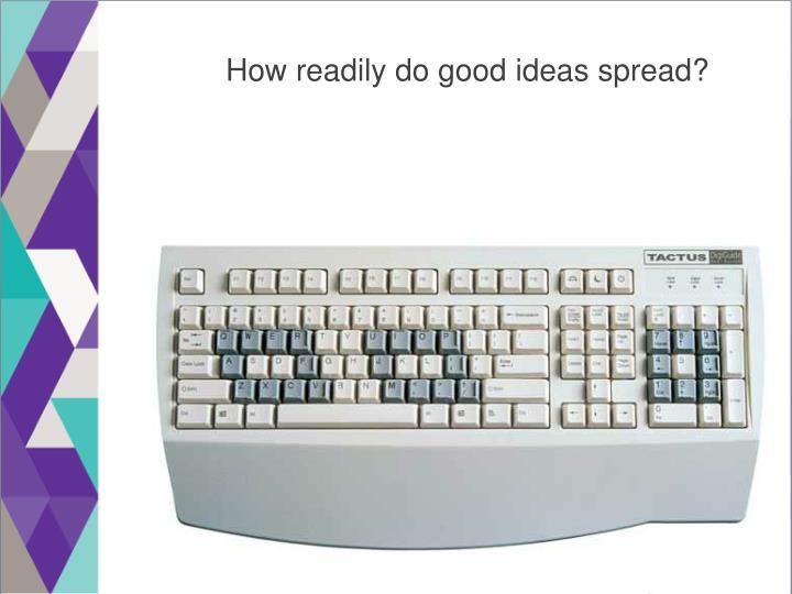 How readily do good ideas spread?