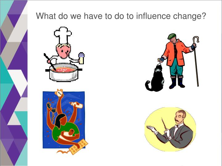 What do we have to do to influence change?