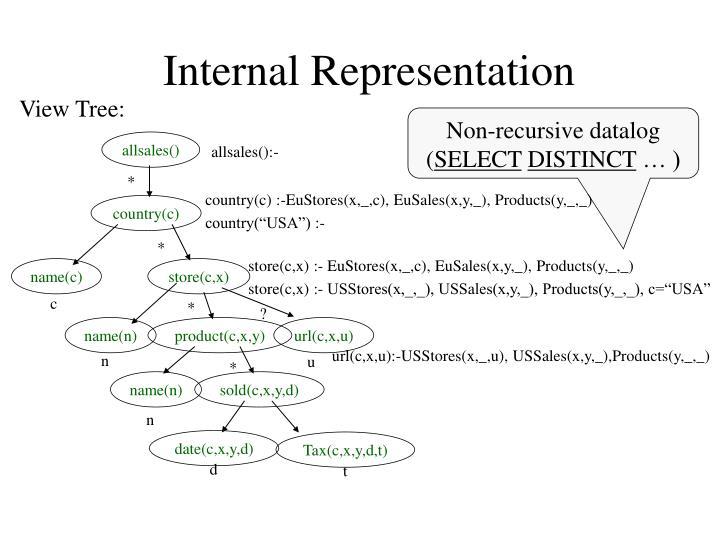Internal Representation