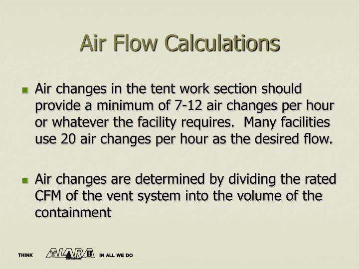 Air Flow Calculations