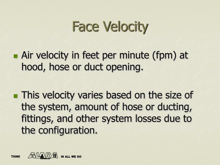 Face Velocity