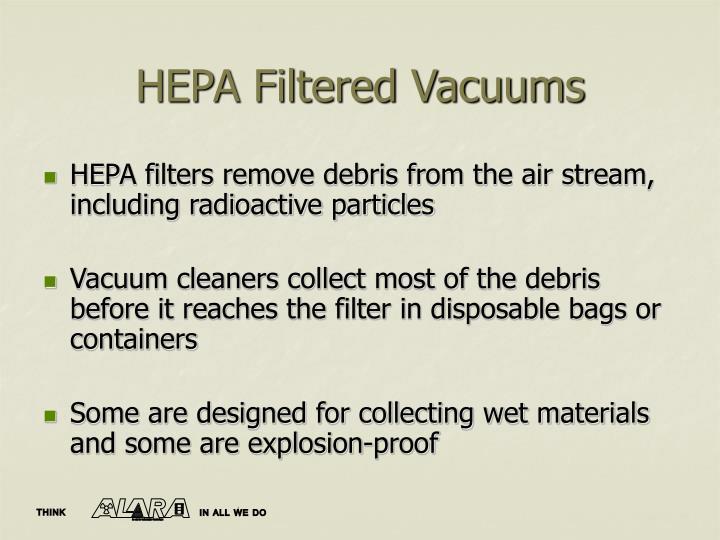 HEPA Filtered Vacuums