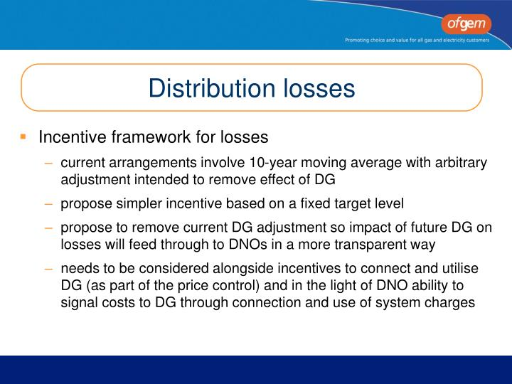 Distribution losses