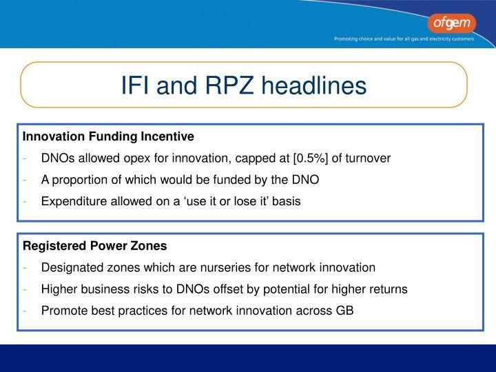 IFI and RPZ headlines