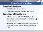 procedure for analysis1