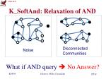 k softand relaxation of and