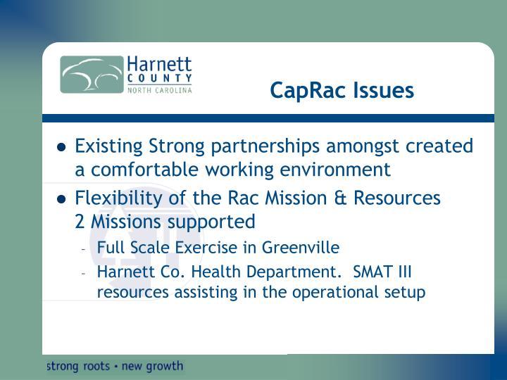 CapRac Issues