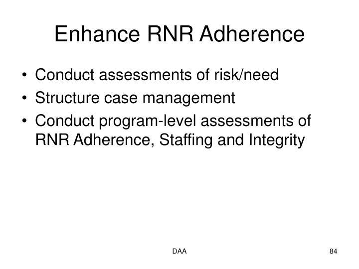 Enhance RNR Adherence