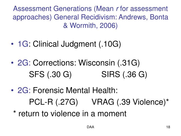 Assessment Generations (Mean