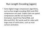run length encoding again