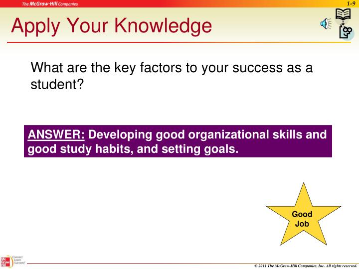 What are the key factors to your success as a student?