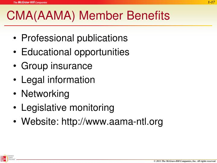 CMA(AAMA) Member Benefits