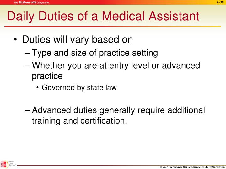 Daily Duties of a Medical Assistant