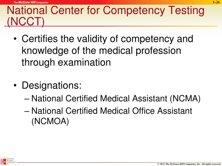 National Center for Competency Testing (NCCT)