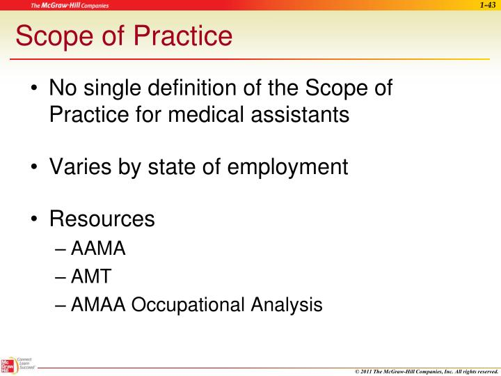 Scope of Practice