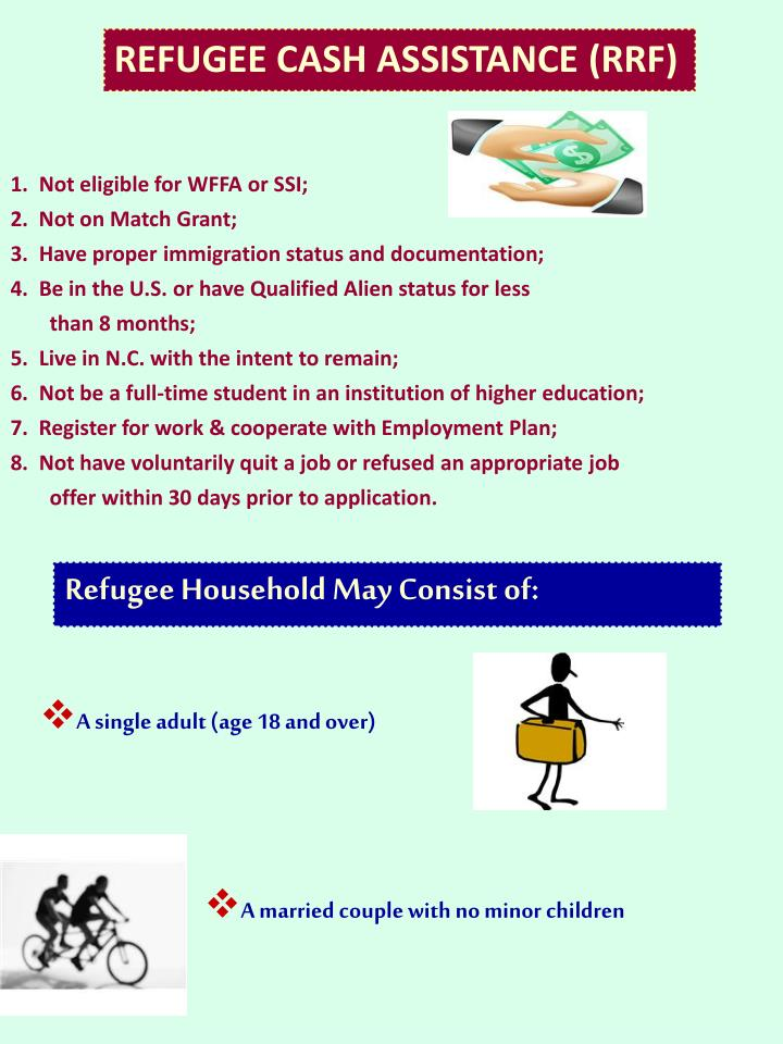 REFUGEE CASH ASSISTANCE (RRF)