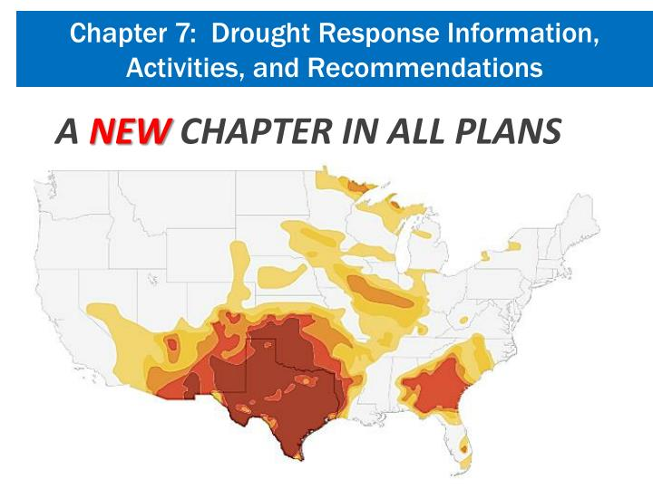 Chapter 7:  Drought Response Information, Activities, and Recommendations