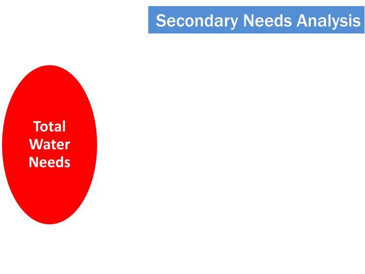 Secondary Needs Analysis