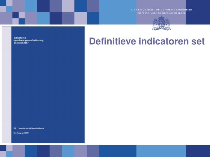 Definitieve indicatoren set