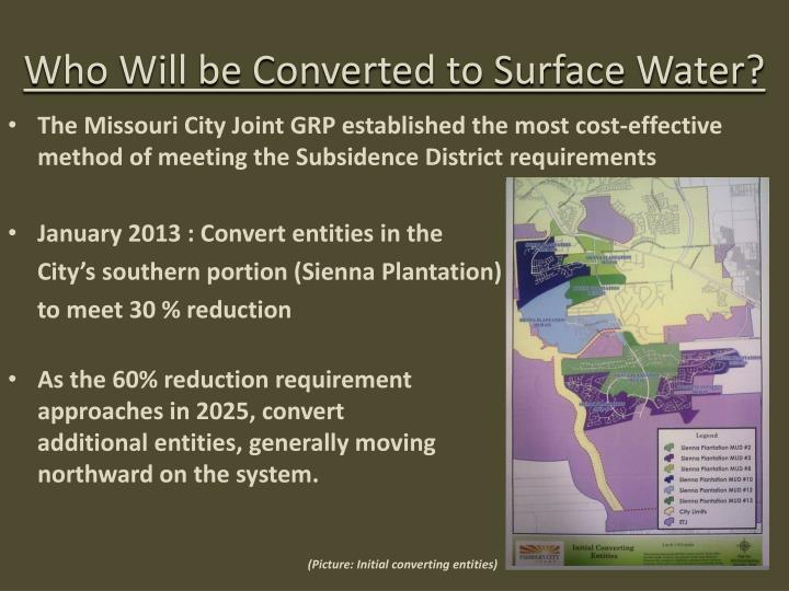 Who Will be Converted to Surface Water?