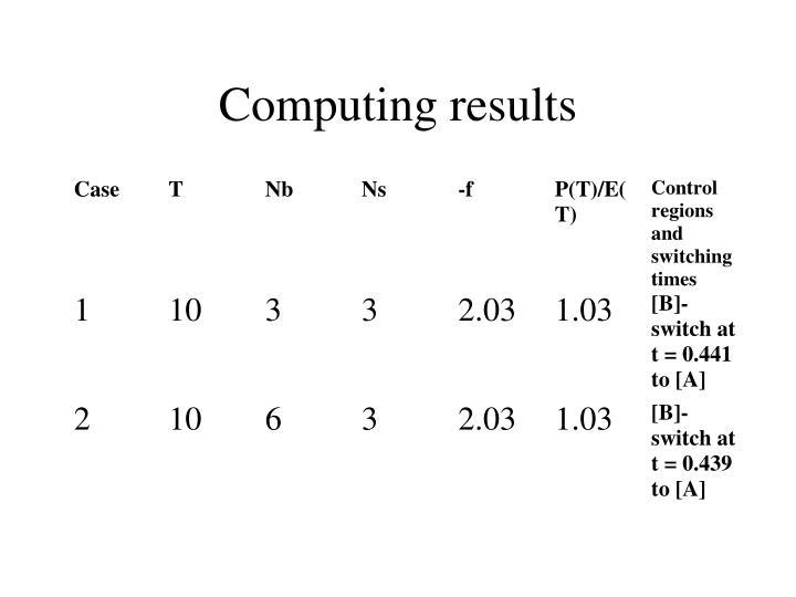 Computing results