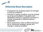 differential boost description