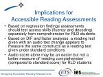 implications for accessible reading assessments