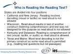 who is reading the reading test
