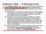 vietnam war a background