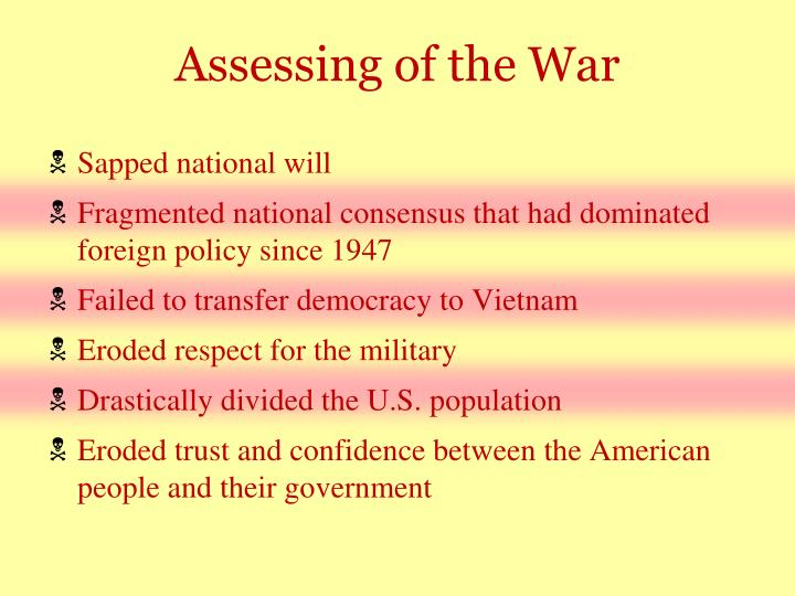 Assessing of the War