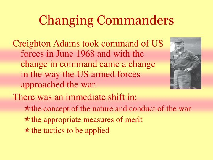 Changing Commanders