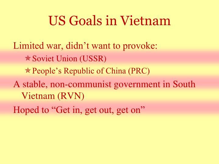 US Goals in Vietnam