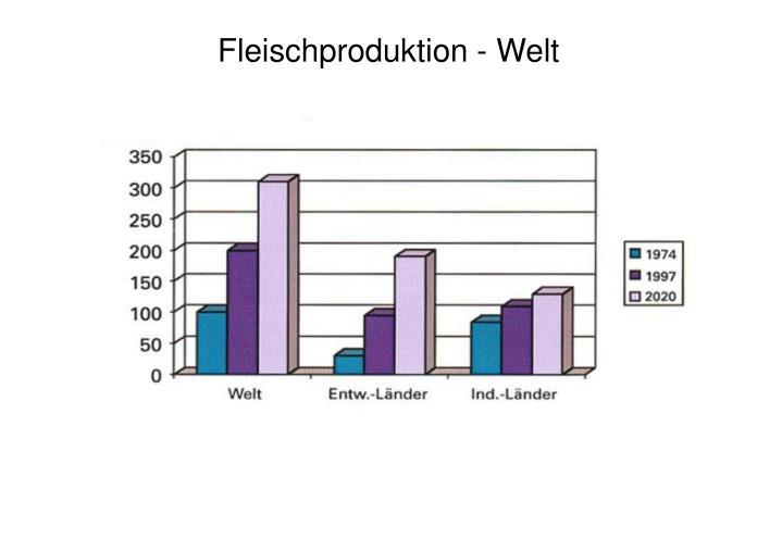 Fleischproduktion - Welt
