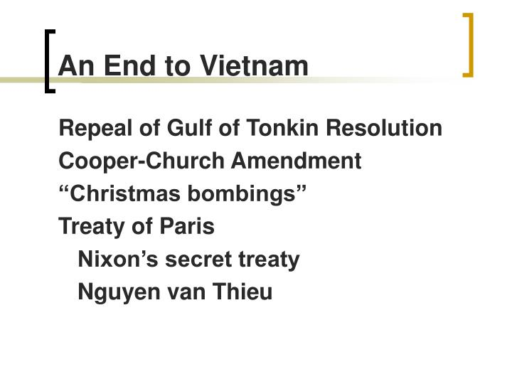 An End to Vietnam
