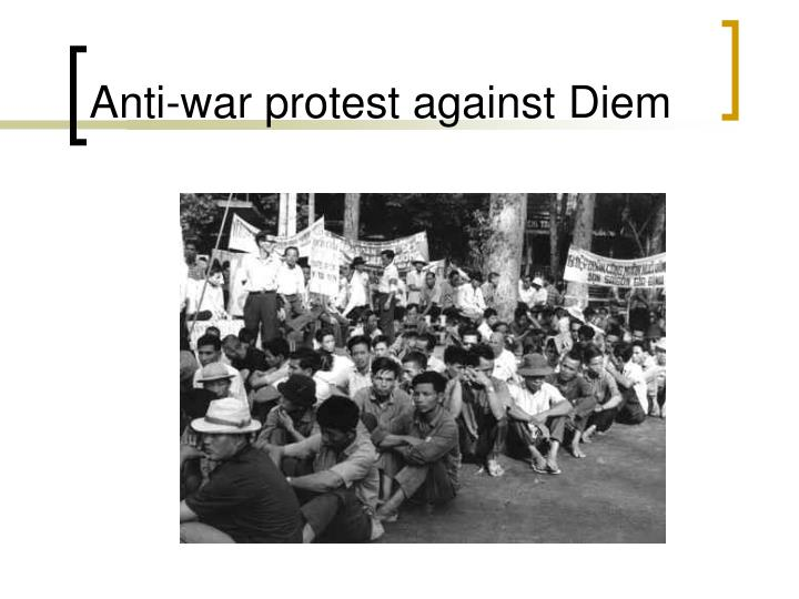 Anti-war protest against Diem