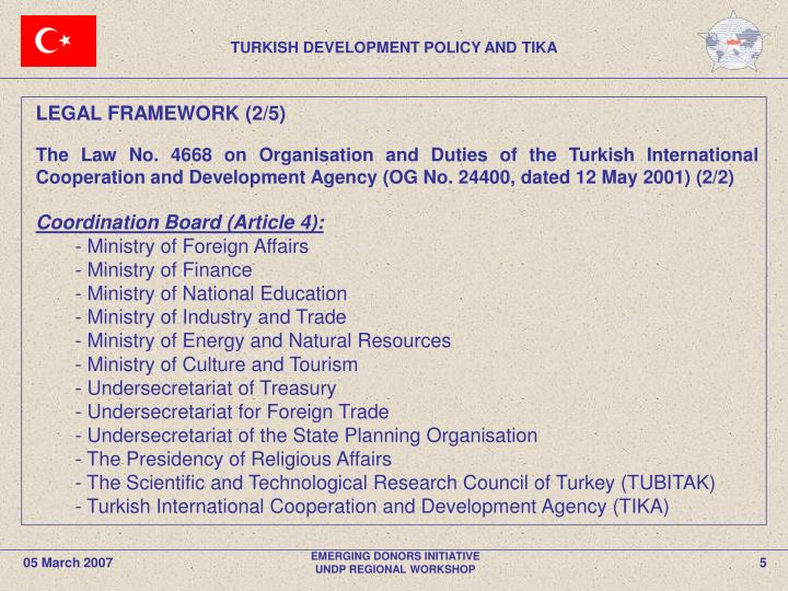 TURKISH DEVELOPMENT POLICY AND TIKA
