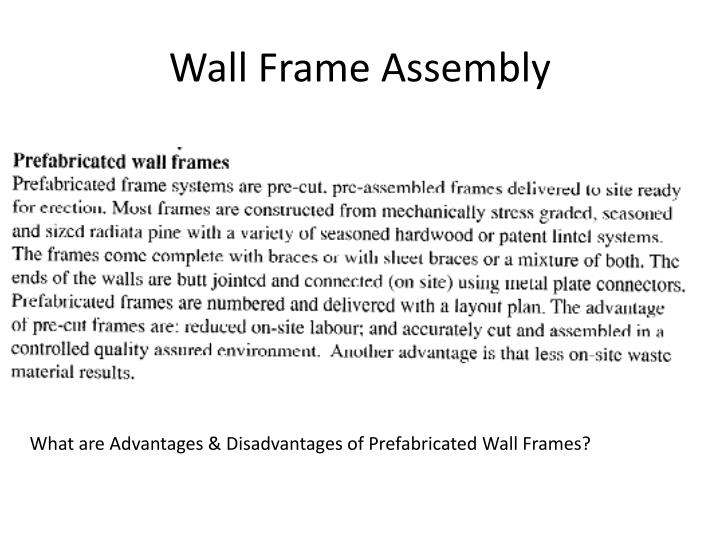Wall Frame Assembly